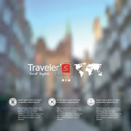 Illustration for Travel design. - Royalty Free Image