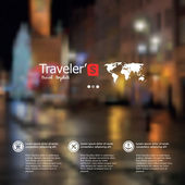 Vector blurred landscape, nature view. City blur unfocused background, web and mobile interface template. Travel design.
