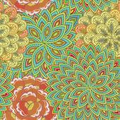 Folk ornamental textile seamless pattern.
