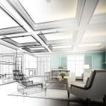 Sketch design of interior living...