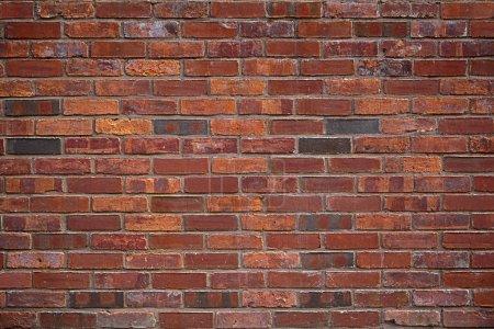 Photo pour Le fond de l'ancienne muraille de briques rouges - image libre de droit