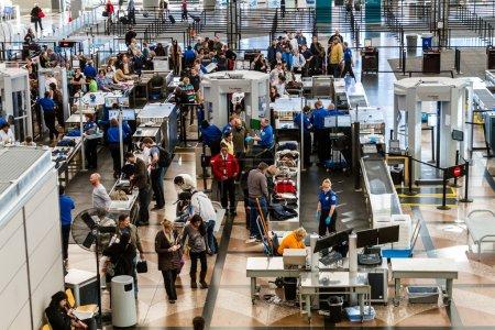 TSA airport security check point