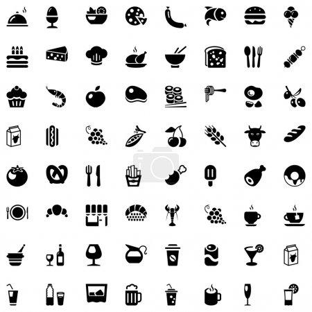 Food & drinks iconset black