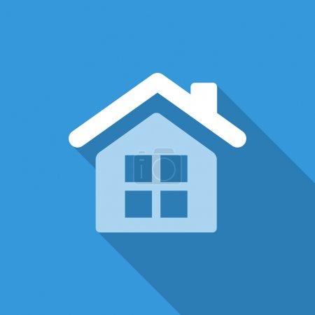 Illustration pour Icône plate bleue pour les entreprises avec ombre - image libre de droit