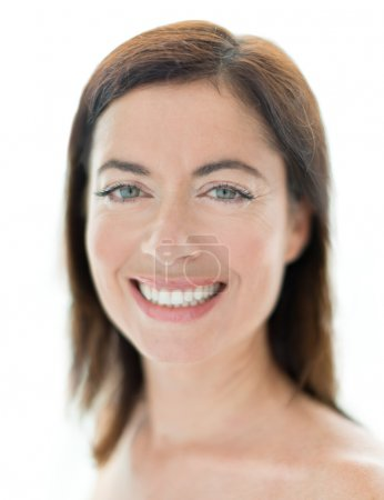 Photo for Horizontal confident smile close up of a mature woman - Royalty Free Image