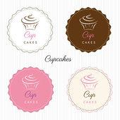 Cupcake logo set