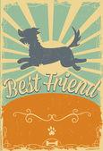 Dog retro poster