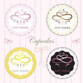 Vector EPS10 cupcakes
