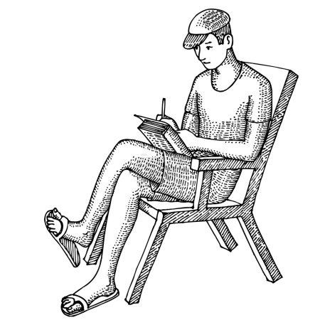 Illustration pour L'homme écrit - image libre de droit