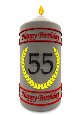 birthday candle for 55th birthday