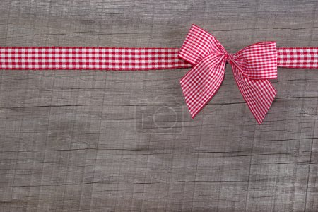 Red checked ribbon decoration