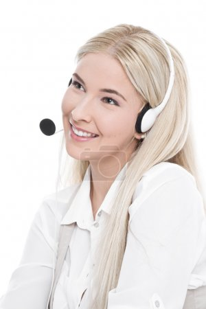 Manager with headset