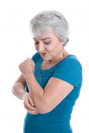 Mature woman has joint pain