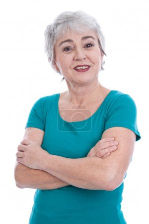 Relaxed elderly woman