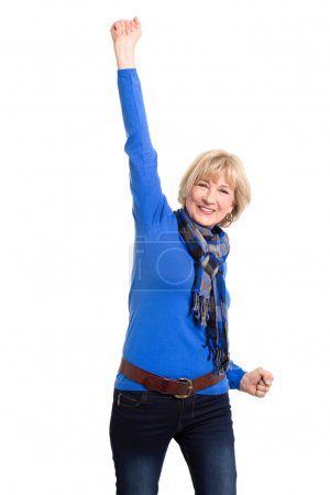 Senior woman posing