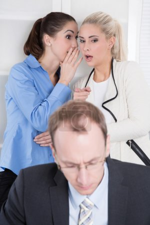 Bullying at workplace - woman and her boss.