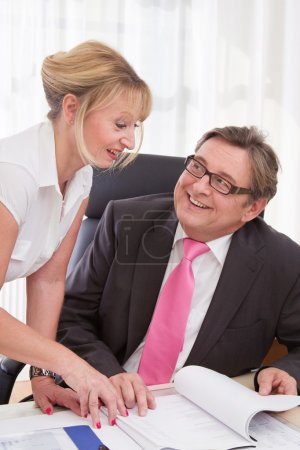 Boss with his secretary