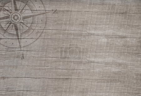 Empty wooden background in maritime style for sailing or cruising.