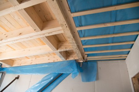 Heat isolation in a new prefabricated house with mineral wool an