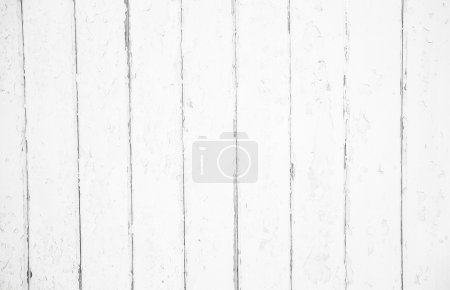 Photo for Shabby chic: old wood background in white color - patterned and rustic. - Royalty Free Image