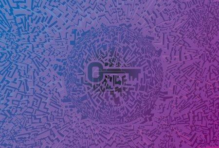 Techno key Background