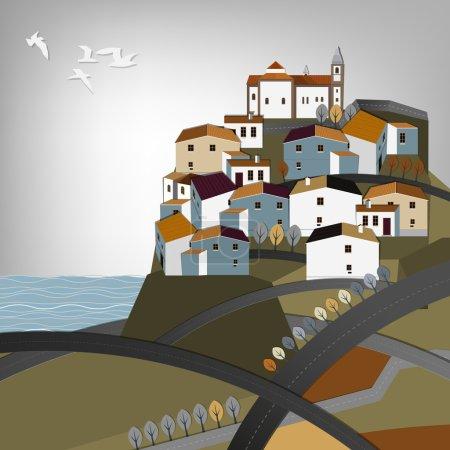 Spanish town landscape