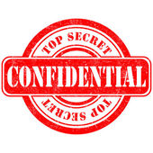 Stamp confidential top secret