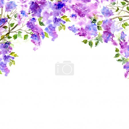 Photo pour Fond floral. Bouquet floral aquarelle. Invitation - image libre de droit