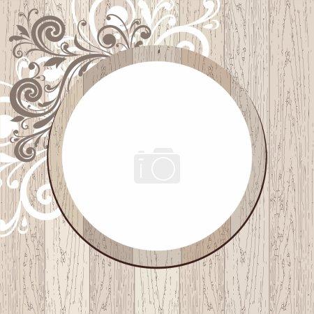 Illustration pour Cadre vectoriel en bois . - image libre de droit