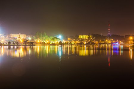 City night light, dalat city vietnam