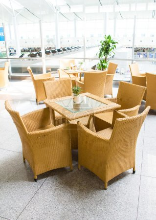 Table living furniture set airport lobby