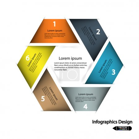 Colorful presentation template with numbers