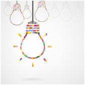 žárovka kreativní myšlenkou koncepce