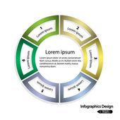 Kruh infografiky možností nápis