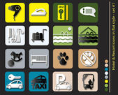 Hotel icons - set in flat style