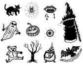Horror And Halloween Icons Set