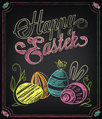 Happy Easter background Vintage design hand lettering