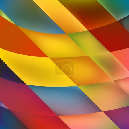 Vector Background with geometric mosaic shapes tre...