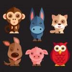 Funny Animals vector illustration Set...