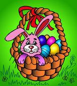 Velikonoční zajíček v košíku