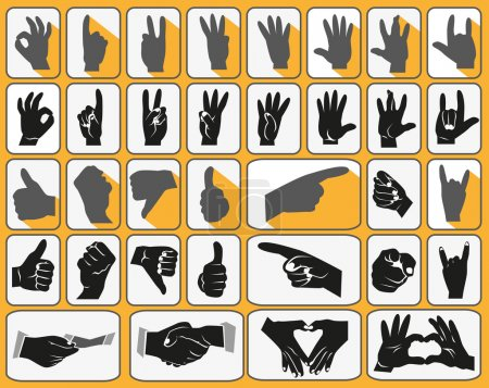 Hands icons