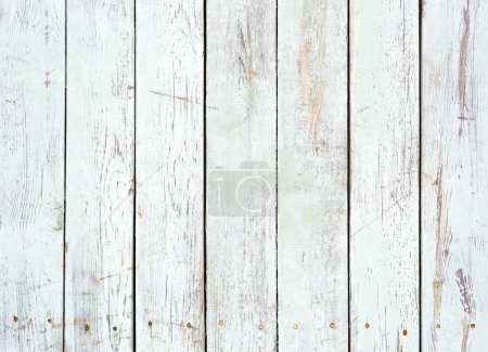 Photo for Black and white background of weathered painted wooden plank - Royalty Free Image