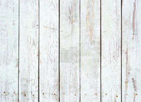 Foto de Fondo blanco y negro del resistido tablón de madera pintada - Imagen libre de derechos