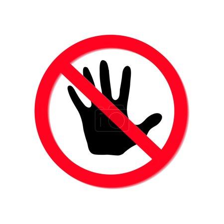 No entry sign, vector eps10 illustration