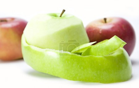 A Green Apple peeled