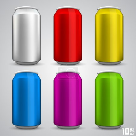 Illustration for Beer cans - Royalty Free Image