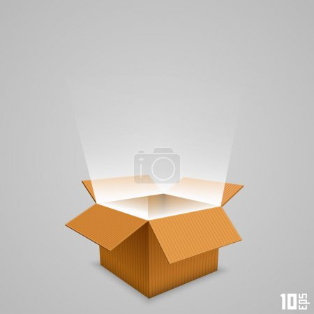 Open box with the outgoing light