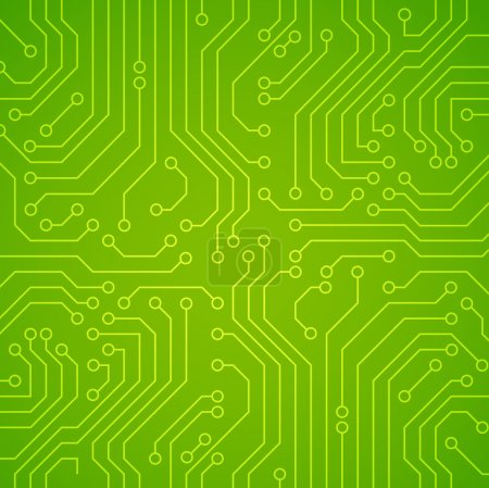 Illustration for Vector circuit board. Green variant - Royalty Free Image