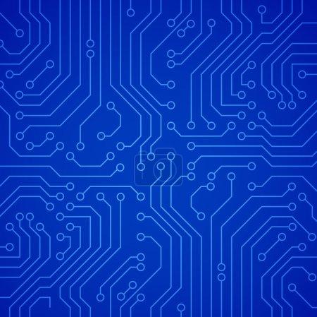 Vector circuit board. Blue variant