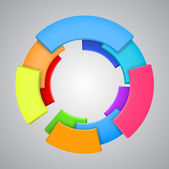 Vector Illustration of abstract colorful 3d rainbow logo design